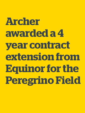 Archer Limited: Archer awarded a 4 year contract extension from Equinor for the Peregrino Field offshore