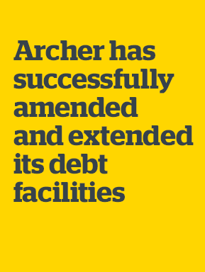 Archer Limited: Archer has successfully amended and extended its debt facilities