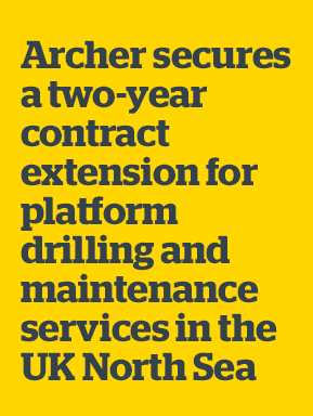 Archer announces two-year contract extension for platform drilling and maintenance services in the UK North Sea