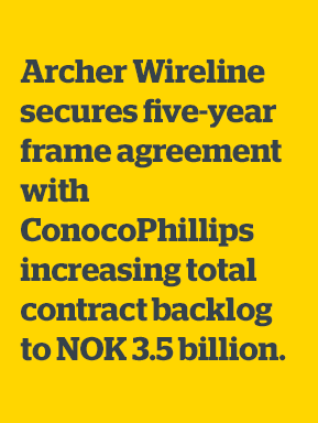 Archer Wireline secures five-year frame agreement with ConocoPhillips Skandinavia AS